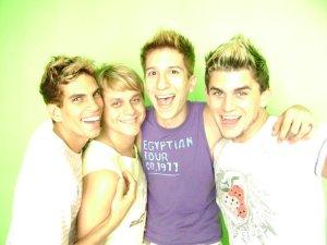 Na ordem: Thiago, Jorge, Pedro e Gustavo