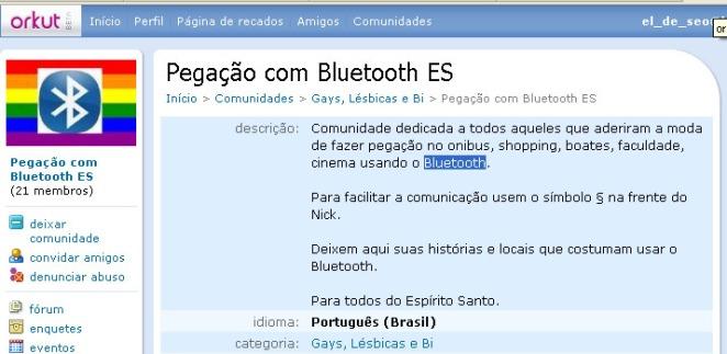 pegação bluetooth