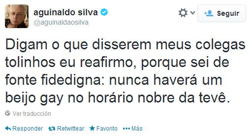 Aguinaldo Silva Sobre Beijo Gay
