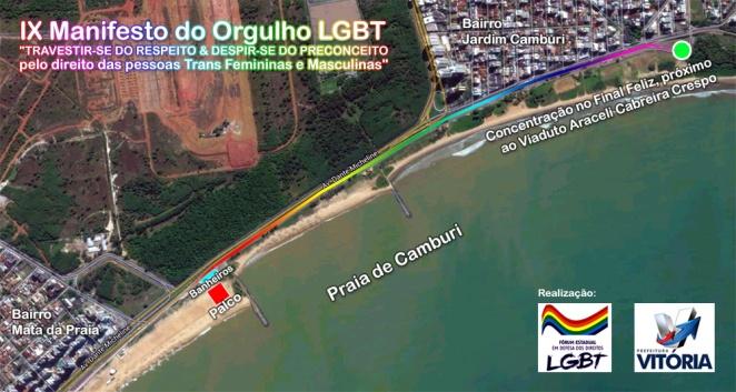 mapa Parada Gays de Vitória